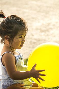 Little Girl With Balloon