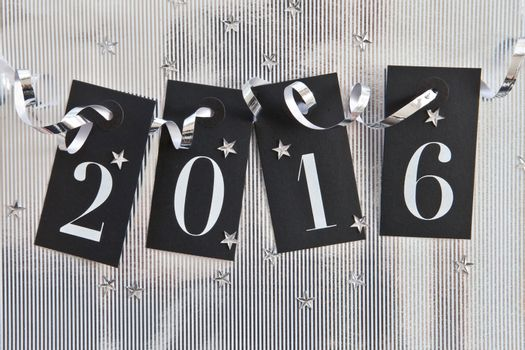 2015 on shiny background