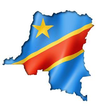 Democratic Republic of the Congo flag map