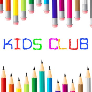 Kids Club Indicating Social Association And Apply