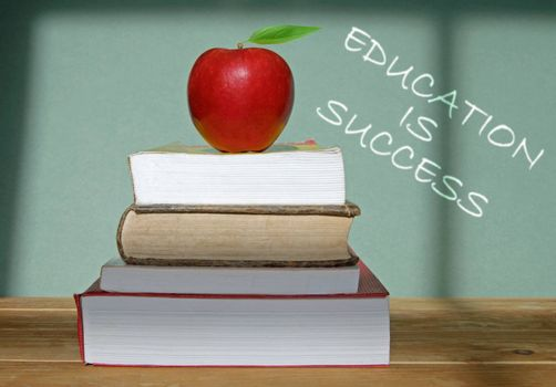 Education is success written on a blackboard
