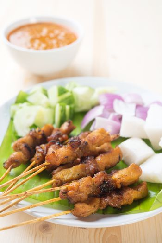 Asian delicacy chicken satay