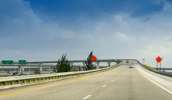 Interstate traffic in Miami junction