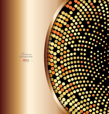 Colorful abstract technology background with gold embellishment for creative design