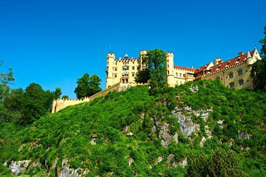 The castle of Hohenschwangau in Germany