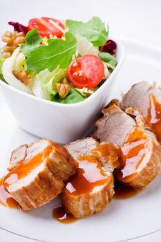 Pork Filet With Salad