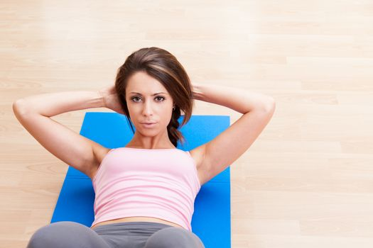 woman fitness abdominal exercises