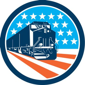 Diesel Train American Stars Stripes Retro