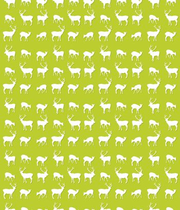 Seamless repeating pattern design with deer silhouettes