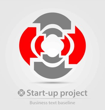 Start-up project business icon for creative design