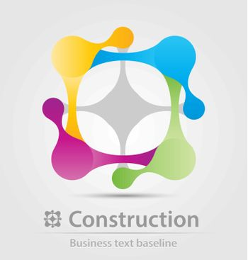 Construction business icon for creative design