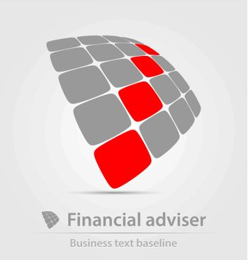 Financial adviser business icon for creative design tasks