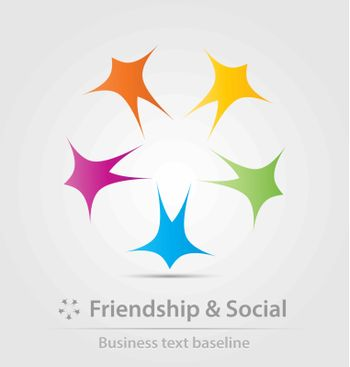 Friendship and social business icon for creative design