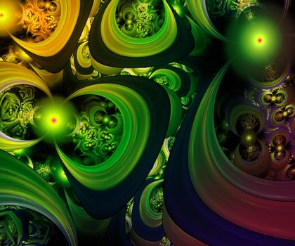 Computer generated fractal artwork for art and entertainment