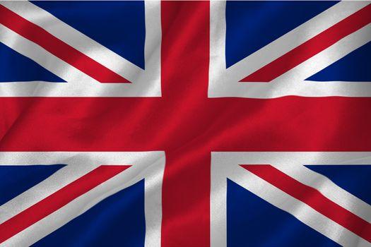 Great britian flag rippling