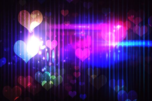 Cool nightlife design with hearts