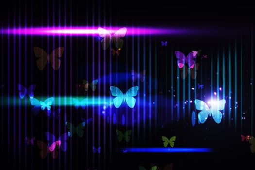 Cool nightlife design with butterflies