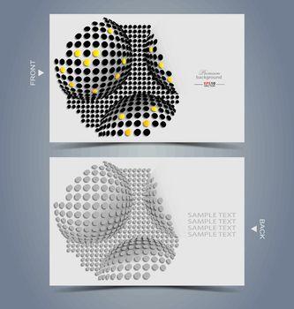 Elegant business card design template for creative design tasks