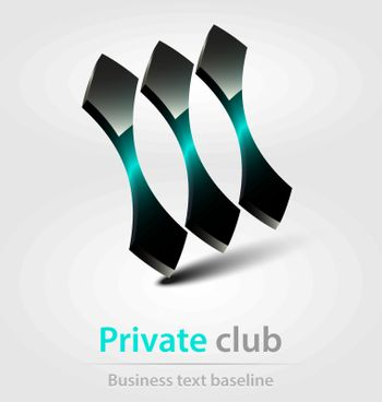 Private club business icon for creative design needs