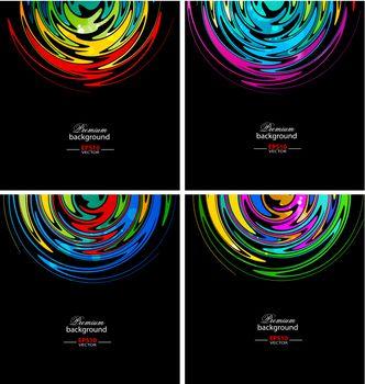 Rainbow circle technology backgrounds for creative design tasks