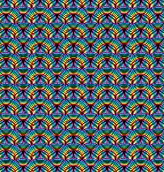 Seamless rainbow pattern tile for creative design