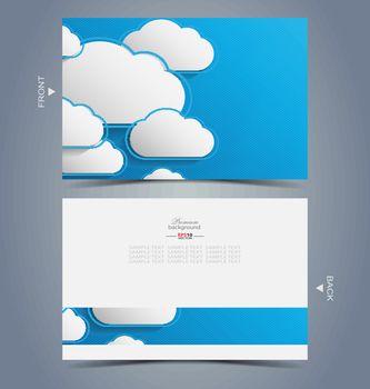 Elegant business card design template for creative design