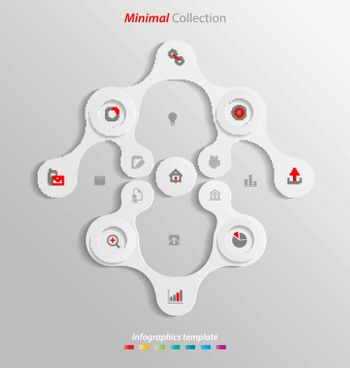 Minimal infographics template easily to be customized for interactive data communication