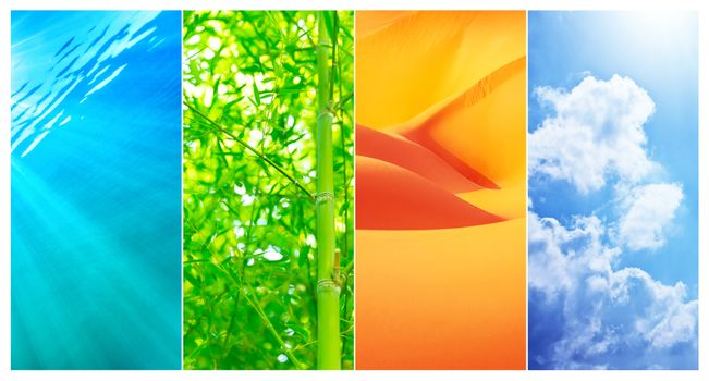 Natural backgrounds collage