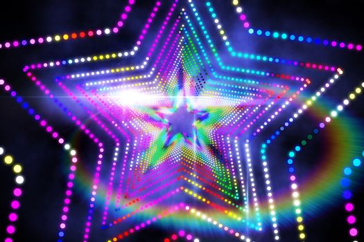 Digitally generated star laser background
