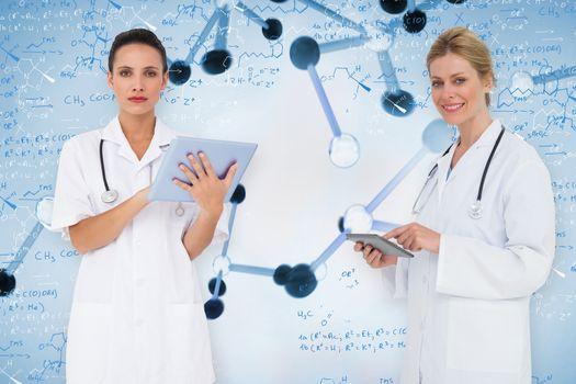 Composite image of female medical team