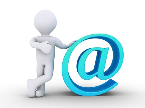 3d person is next to an e-mail symbol