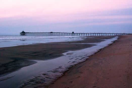 Low Tide with Pier in the Distance