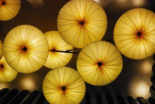Lighted Umbrellas