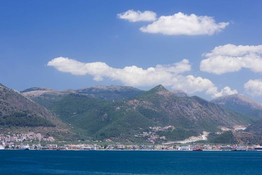 Igoumenitsa harbor at west coast of Greece. Soft focus