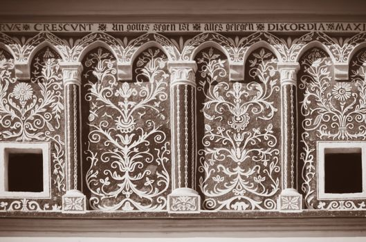 Photo of The Old Decorative Exterior Wall