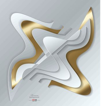 Abstract background with paper ornament for creative needs