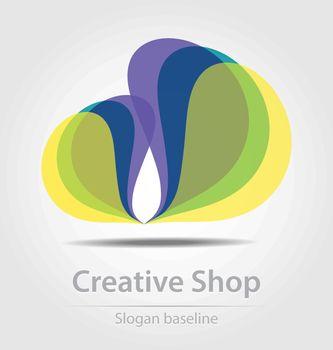 Originally designed creative shop business icon