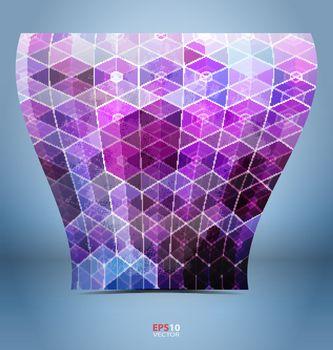 Purple black mosaic template for creative design