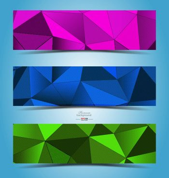 Abstract color  geometric banner design