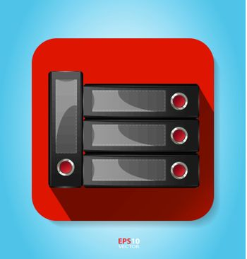Flat style icon - office for multipurpose design needs
