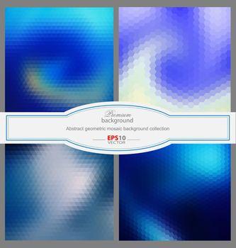 Mosaic gradient geometric background for creative needs