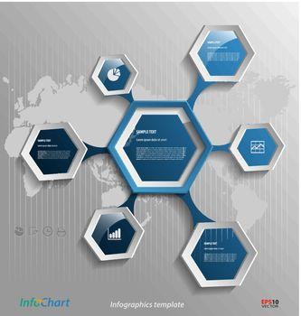 Stylized presentation,option template for business documentation