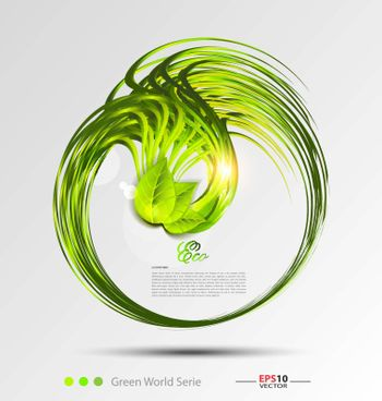 Fresh leaves vector background template for creative designers