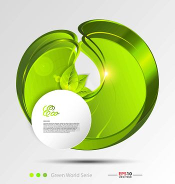 Illustration of the fresh leaves vector background template