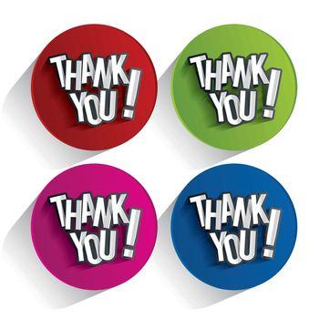 Creative Thank You, Show Gratitude Design vector illustration