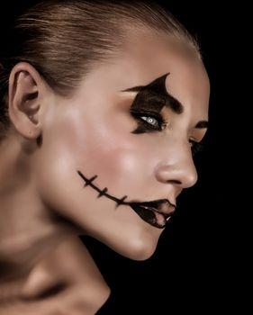 Creepy vampire portrait