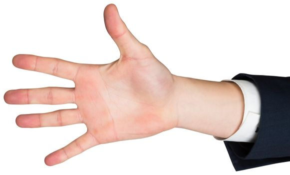 Hand with fingers spread out