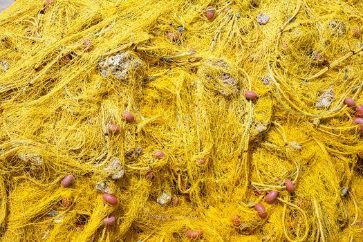 Yellow fishing net