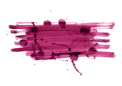 Abstract grunge color banner with blots. Vector.