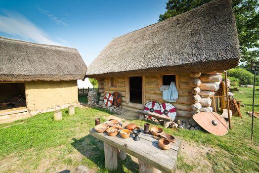 Old slavic village in Poland